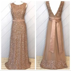 {Maya Deluxe} Sequin Sleeveless Dress Gown Prom